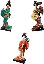 LoveinDIY 3pcs 12inch Vintage Japanese Doll Kimono Geisha Figure Statue for Shop