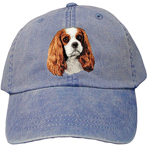 Cherrybrook Dog Breed Embroidered Adams Cotton Twill Caps - Royal Blue - Cavalier King Charles Spaniel