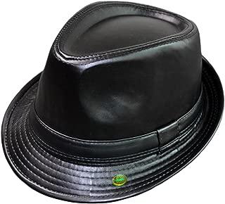Plain Color Fedora Short Upturn Brim Hat FFH312BLK