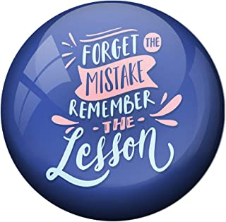AVI Blue Metal Fridge Magnet with Positive Quotes Forget The Mistake Remember The Lesson Design MR8001037