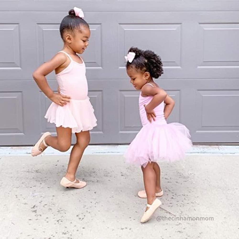 Toddler//Little Girl//Big Girl STELLE Girls Cotton Camisole Dress Leotard for Dance Gymnastics and Ballet