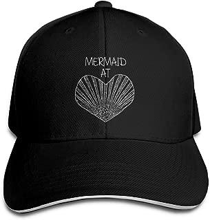 Sandwich Baseball Cap Unisex Adjustable Trucker Style Hat Mermaid at Heart