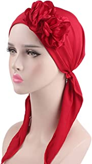 Jpwpowe Women Stereoscopic Flower Braid Headbands Chemo Turban Elastic Muslim Head Cap