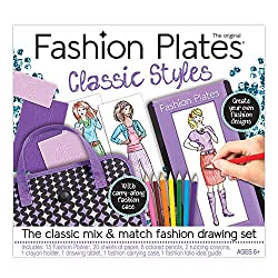 best toys for 6 year old girls - Kahootz Fashion Plates Deluxe Kit