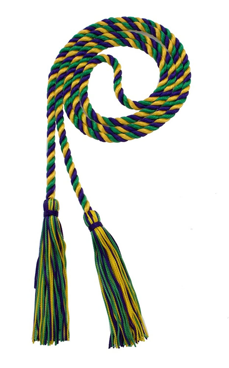 HONOR CORD PURPLE / KELLY / GOLD - TASSEL DEPOT BRAND - MADE IN USA