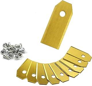 ONVAYA® XXL Cuchilla de repuesto para cortacésped robótico | 9x Hoja de titanio | 43 mm de largo | 0,75 mm | Repuestos Husqvarna | Gardena robot cortacésped accesorios | cuchillas de cortacésped