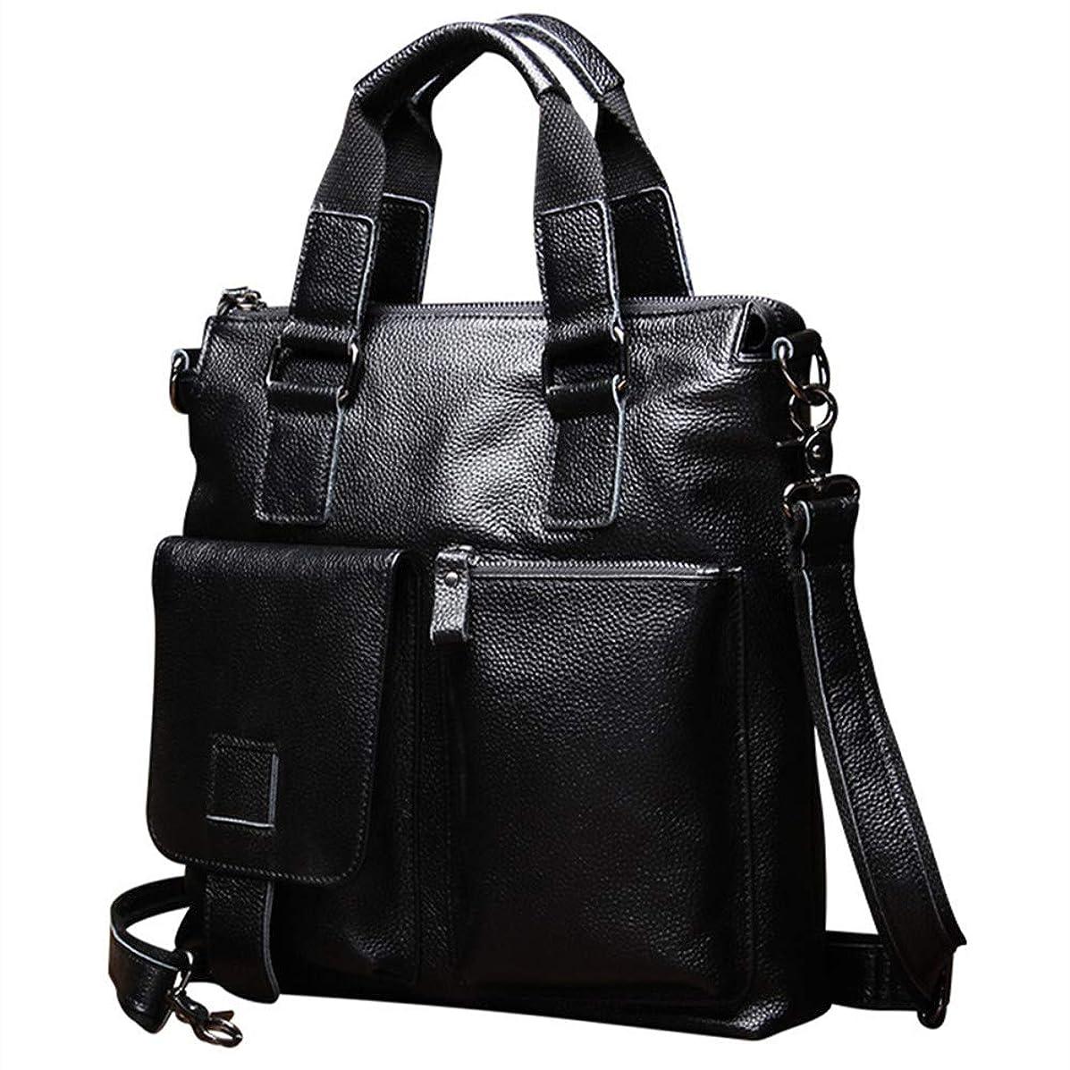 Laptop briefcase Men Leather Laptop Bag, Travel Briefcase Carry on Handle, Large Shoulder Bag, Waterproof Business Messenger Briefcases for Men Crossbody bag Fits 14 Inch Laptop, Tablet Brown Crossbod
