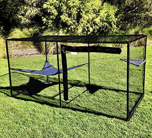La Luna Pet Care Cat Enclosure Package Deal | Cat Enclosure | Outdoor Cat Enclosure | Cat Play Pen | Indoor Outdoor Cat Tent | 43' x 43' x 86'