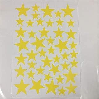 New 45/24Pcs Cartoon Starry Wall Stickers for Kids Rooms Home Decor Little Stars Wall Decals Baby Nursery DIY Vinyl Art Mural Yellow 45pcs 3-5cm