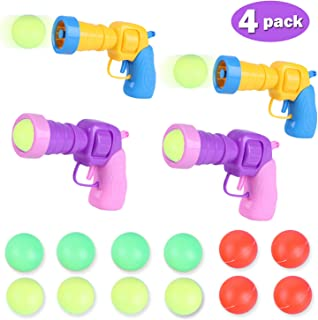 Kids Pingpong Gun Bathroom Toy Playing Play Water Gun,Infant Beach Game Boy Girl Outdoor Party Shooter Shot Guns Toys Plastic Air Power Popper Shooting Foam Battle