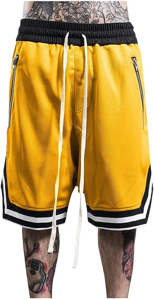 Burband Mens Shorts Big and Tall Casual Basketball Shorts Athletic Workout Gym Drawstring Running Activewears with Pockets