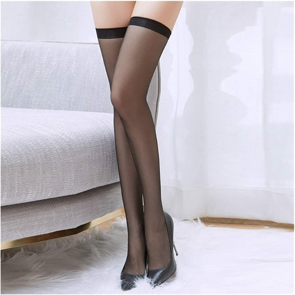 Linyuex Women Stockings Summer Thin Tiptoe Transparent Silk Over The Knee Stocking High Tube Loli Beauty Stocks (Color : White)