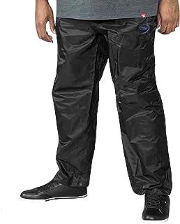 D555 Duke Mens Elba Big Tall Packaway Waterproof Trousers - Black - 4XL