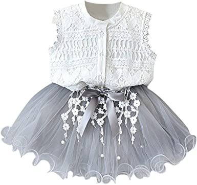 Vestido de niña,Riou Vestidos sin Mangas con Estampado Flores ...