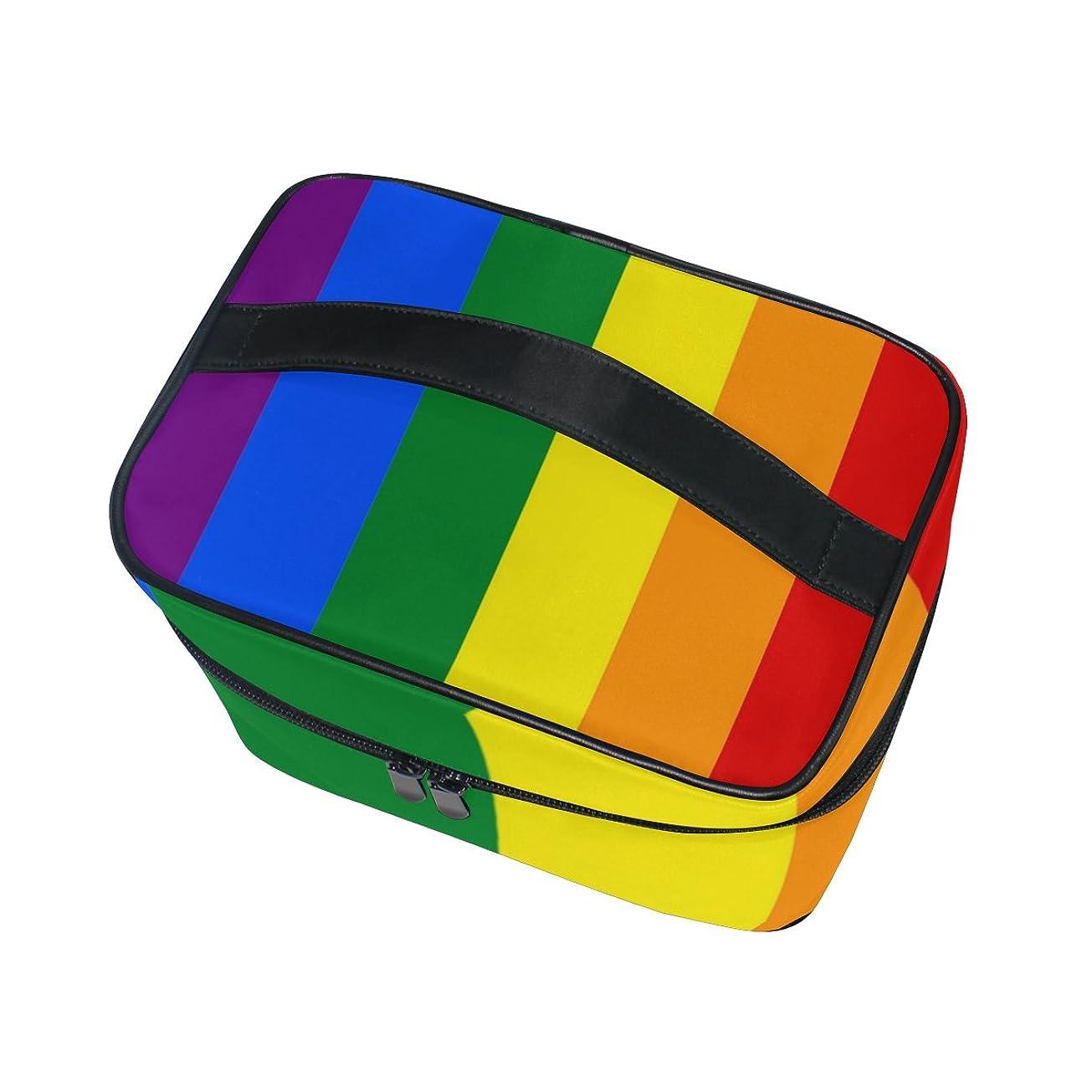 ブリークスクレーパー補うALAZA 化粧ポーチ ストライプ柄 縞模様 化粧 メイクボックス 収納用品 マルチ 大きめ かわいい