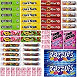 Chewing Gum Packs Variety Pack Bulk Assortment Including Bazooka, Hubba Bubba Bubble Gum, Dubble Bubble, Wrigleys Juicy Fruit, Doublemint, Big Red, Razzles, Cry Baby and More (50 Count)