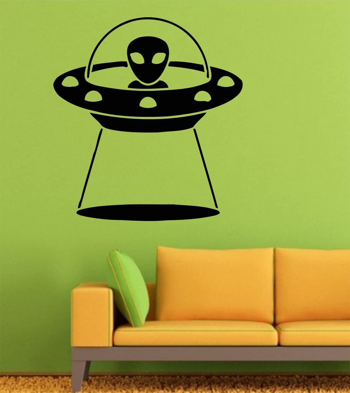 American Art Decals 451 Wall Decal UFO お気にいる Space おしゃれ Decas — Vinyl