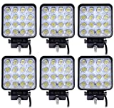 Leetop 6 Luces de Trabajo LED 48W 3800 lm 6000K 67IP, Luces de Apoyo...