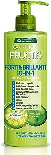 Garnier Fructis Forti & Brillanti, Trattamento 10-in-1 senza Risciacquo, Arricchito con Pompelmo e Vitamine B3 e B6, 400 ml