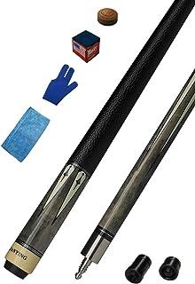 PB30&31 2 Pieces 12.75mm Tip Irish Linen&Genuine Leather Wrap Pool Cue Stick