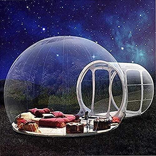 SXMY Tienda de Burbujas Tienda de Campaña de Burbujas Inflables al Aire Libre de Interior Gazebo Carpa Familiar Portátil de Camping Patio Transparente con Soplador y Kit de Reparación,001,5M