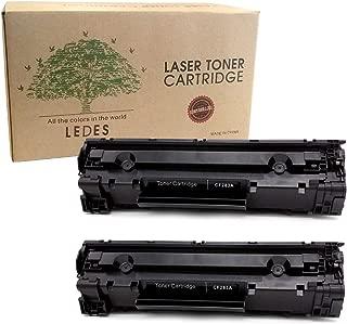 Ledes Compatible Toner Cartridge Replacement for HP CF283A 83A to use with Laserjet Pro MFP M125nw M125a M127fn M127fw M201dw M201n M225dw (2 Black)