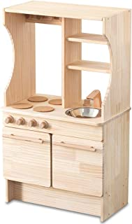 RiZKiZ 木製 おままごとキッチン お店ごっこ対応 おもちゃ 収納付き 表はキッチン 裏はお店屋さん リバーシブル 安心安全設計 子供用 組立式