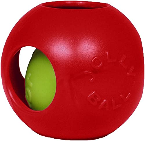 Jolly Pets 10-Inch Teaser Ball, Red