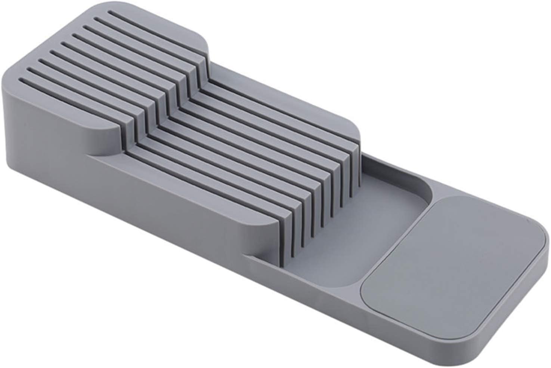 Organizador de cubiertos para guardar cuchillos de cocina (gris)