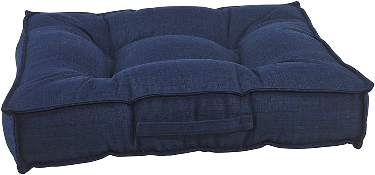 Bowser Piazza Dog Bed, Large, Midnight bluee