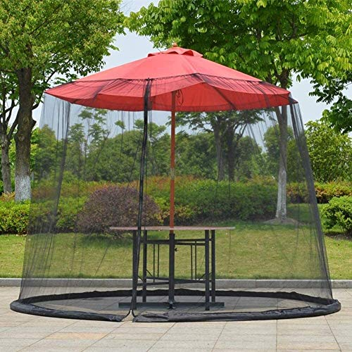 REWD Portable Garden Mosquito Cover Mosquito Netting Outdoor Enclosure Coverols for Indoor and Outdoor, Camping - Excluding Umbrella and Foundation (Color : Black, Size : 300 * 230cm)