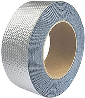 Nash ひび割れ 補修 ブチルテープ 片面 強力 粘着 テープ 屋根 台所 壁 配管 パイプ ベランダ 水回り コンクリート 水漏れ 屋外用 防水 シーラントテープ シルバー 5cm×5m