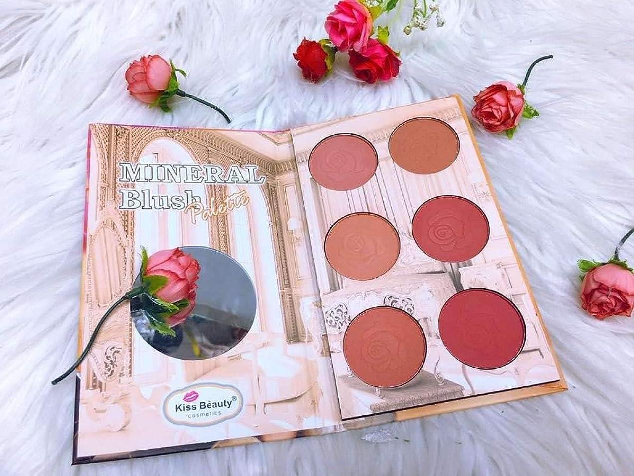 移行する迫害商標Kiss beauty mineral Professional Makeup Sweet Cheeks Blush Palette.