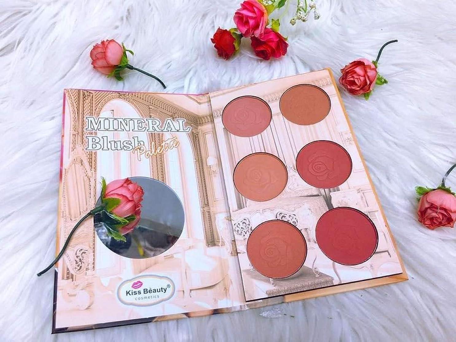シャーロックホームズ成熟したシルエットKiss beauty mineral Professional Makeup Sweet Cheeks Blush Palette.