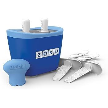 Zoku ZK107-BL - Machine à crème glacée Duo Quick Pop Maker, bleu