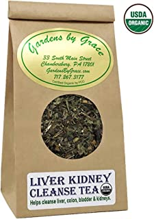 Liver Kidney Colon Bladder Cleanse and Detox Organic Support Aid, Natural Nutrients Protect, Repair Formula, Amazing Health, Vegan, Loose Leaf, 2 oz