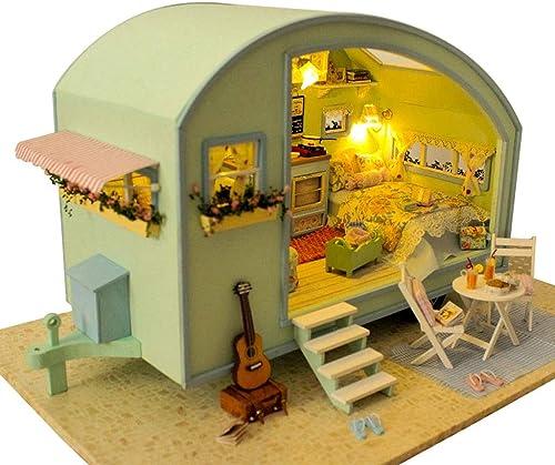 Evav Puppenhaus Miniatur DIY Haus Kit, handgefertigte p gogische Spielzeug Geb e Modell Geburtstagsgeschenk - Zeitreise