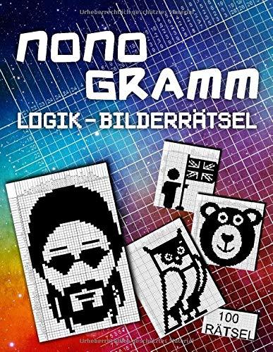 100 Nonogramm Logikrätsel Für Erwachsene: Japanische Logik Rätsel zum Ausmalen | einfach bis sehr schwer | Mosaik Nonogramme | Hanjie Picross Nonogram Rätselheft mit Lösungen
