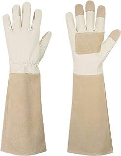 دستکش های هرس گل رز برای آقایان و خانمها ، دستکش های باغبانی اثبات شده با خار بلند ، دستکش قابل چرم تنفس Pigskin ، بهترین هدایا و ابزار باغی برای باغبان