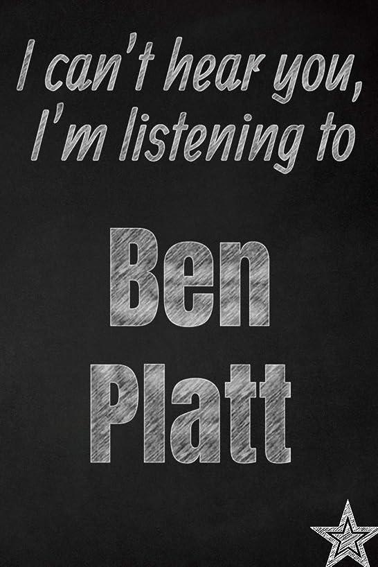 人口賞賛スーツケースI can't hear you, I'm listening to Ben Platt creative writing lined journal: Promoting band fandom and music creativity through journaling…one day at a time (Bands series)