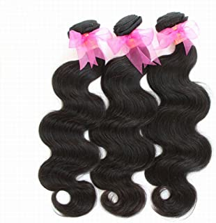 Brazilian Virgin Hair Body Wave 3 Bundles Unprocessed Virgin Human Hair Weave Weft Mixed Length (08 08 08) Natural Color No Shedding No Tangle From Queen Hair Company