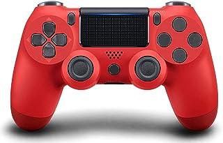 Manette PS4 Manette de Jeu Bluetooth sans Fil pour Playstation 4 avec câble USB Compatible avec Windows PC-Red