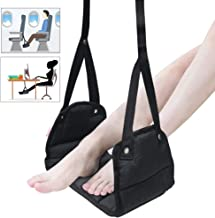 Airplane Travel Accessories Airplane Footrest - Portable Travel Airplane Foot Hammock with Premium Memory Foam Prevent Painful & Comfy Leg Feet for Long Flight Train Office Footrest (2 Extension Gift)
