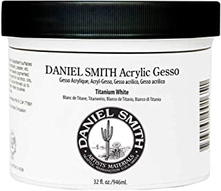Daniel Smith Acrylic Gesso, Titanium White, 32oz jar (284040006)