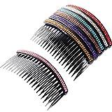 7 Piezas de Peine de Pelo 20 Dientes Peine de Diamantes de Imitación Clip de Peineta de Pelo Nupcial Accesorios de Peinado para Mujeres Niñas, Colores Variados
