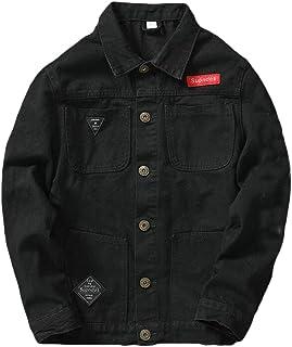 WSPLYSPJY Men's Classic Washed Denim Jacket Long Sleeve Jean Jackets
