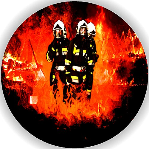 Fondant Tortenaufleger Tortenbild Geburtstag Feuerwehr T1