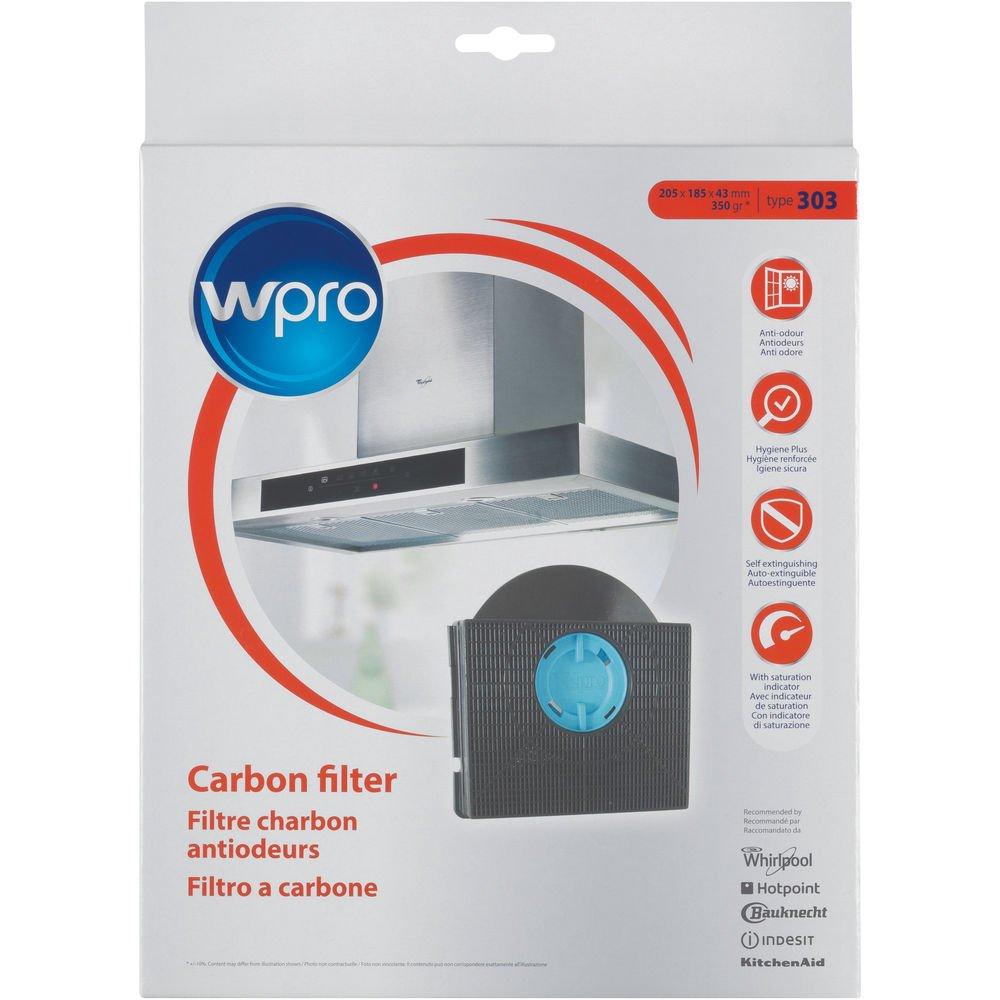 Wpro CHF303/1 - Accesorio para campana extractora, filtro de carbón activo tipo 303 para recirculación, apto para muchos modelos (entre otros, IKEA, Whirlpool): Amazon.es: Grandes electrodomésticos