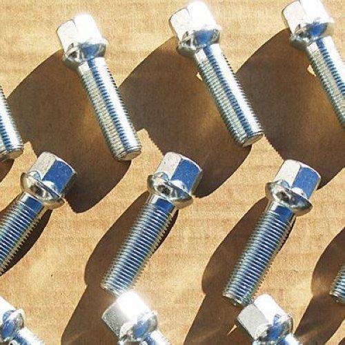 Set of 20 Chrome Mercedes Benz Lug Bolts Nuts ML350 S500 GLK350 S550 CL500 GL450