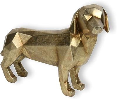 Newman House Studio Polyresin Decorative Orinami Dog 11.7L x 4.3W x 8.2H inch
